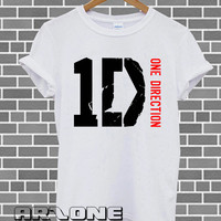Band Shirt - One Direction Shirt 1D Hot Logo T-shirt  Printed White Color Unisex Size - AR31