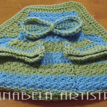 Hand Crocheted Dog Sweater with Bow Tie: Large 10% of this sale will be donated to ResQPet