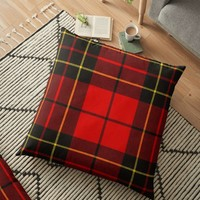 'BRODIE RED MODERN TARTAN 2' Floor Pillow by IMPACTEES