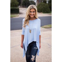 Chic Flow Top - Periwinkle