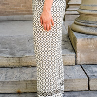 Hight Waist, Wide Leg Print Pants