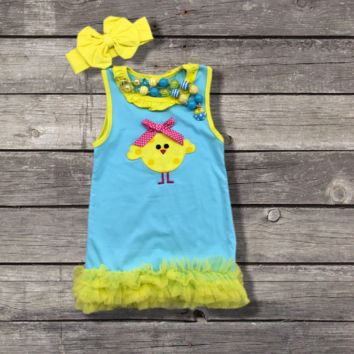 Easter Chick Boutique Dress