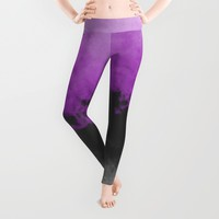 Zero Visibility Radiant Orchid Leggings by Caleb Troy