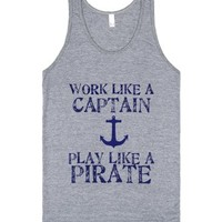 Play Like A Pirate-Unisex Athletic Grey Tank