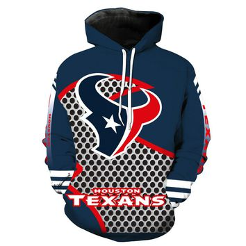 New texans Hoodies 3D Sweatshirts Men Women Unisex Hooded Tracksuits Autumn Winter Pullover for houston gift