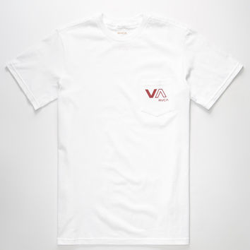Rvca Va Mens Pocket Tee White  In Sizes