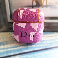 DIOR Newest Popular Women Men iPhone Airpods Headphone Case Wireless Bluetooth Headphone Protector Case(No Headphones)