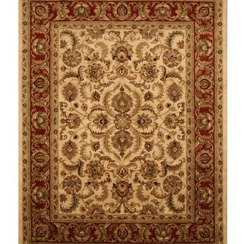 EORC Hand-tufted Wool Ivory Traditional Persian Rug