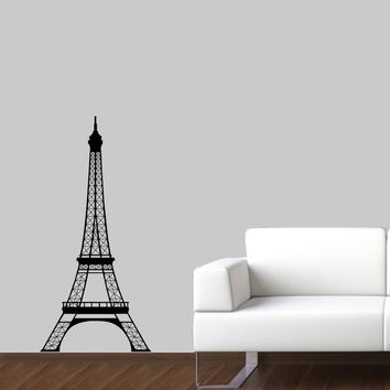 Eiffel Tower Wall Decal - Paris Wall Art - 4 Feet high - Large Size