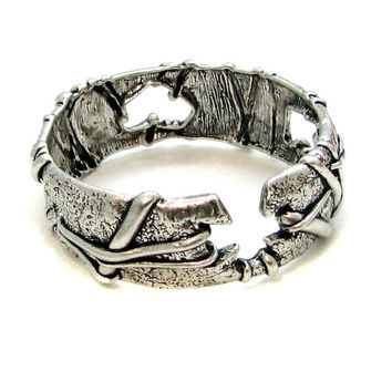 CHRISTIAN LACROIX, vintage silver-tone metal bangle