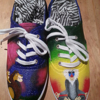 The Lion King, Lions Under the Stars and Rafiki Painted Shoes