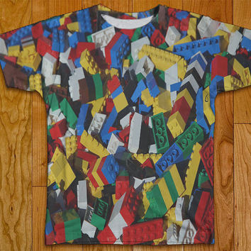 Legos Tshirt Two Sided Clothing Adult Sizes S-XL