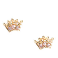 Princess Crown Stud Earrings