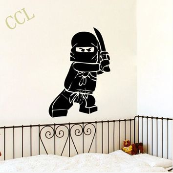 NEW Ninjago Lego Vinyl Decal Sticker For Kids Boy Room Decor Children's Play Room Wall Decor Lego Wall Stickers Free Shipping