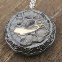 Nautical Chic Whale Locket Necklace