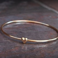 Heart Bangle from Paris Heroin Stars' Boutique