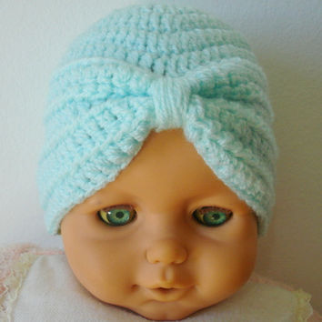 Baby Girls/Twins Turban Hat Crochet Hat Baby Beanie Baby Shower Gift Baby Hats Toddler Hats - Newborn to 4T