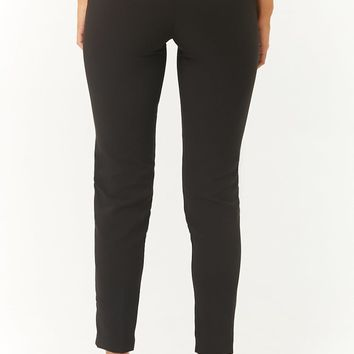 Tapered-Leg Pressed Pants