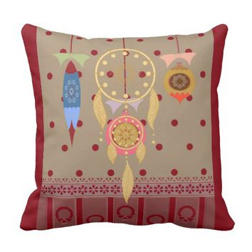 Christmas Dreamcatcher Ornaments Throw Pillow