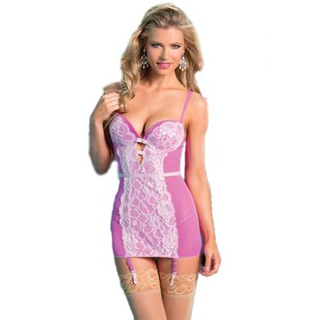 Be Wicked BW1444 2-Piece Pink Cami Suspender