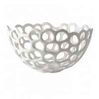 White Porcelain Perforated Bowl