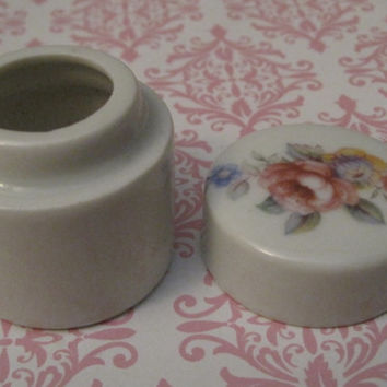 "Vintage Crown West Fine Porcelain Small Jar - Marked ""Made In Japan"", Popel International"