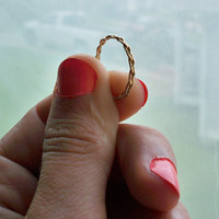 Gold Fill Braided Ring - stacking ring - custom made