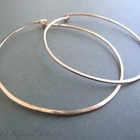"Gold Hoops - xlarge hoop earrings 2"" or 2.5"" (50mm 5cm 60mm 6cm) simple classic minimalist basic white rose yellow gold-filled gift"