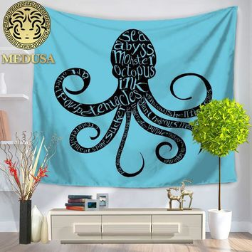 Medusa 2017 octopus wall tapestry beach towel as home decor
