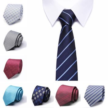 Hot Sale Mens Slim Tie Dot & Floral & Camouflage Patterned Ties 8 cm Neck Ties Fashion Skinny Tie Wedding Party NeckTies