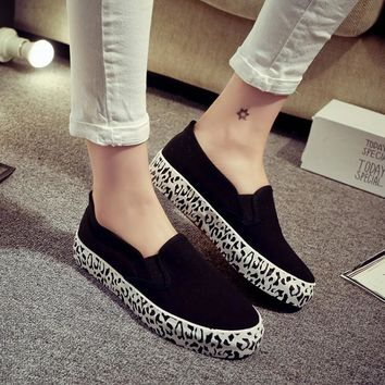 Hot Sale On Sale Hot Deal Stylish Comfort Casual Flats Thick Crust Shoes Vans Loafer Shoes Round-toe Sneakers [6050467201]