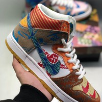 Nike SB DUNK HIGH Skateboard shoes cheap Men's and women's nike shoes