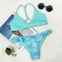Cupshe Hit Refresh Sky Bikini Set