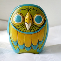 Vintage Owl Planter Papier Mache by New Trends Japan