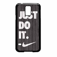 Nike Just Do It Wood Colored Darkwood Wooden Samsung Galaxy S5 Case