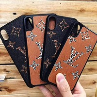 LV Louis Vuitton New fashion leopard monogram print protective case phone case