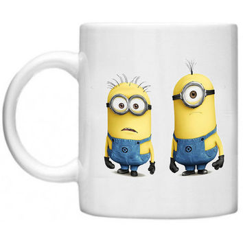 Despicable Me Minions Two Minions Ceramics Mug - Made To Order