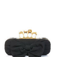 Bow front Knucklebox clutch | Alexander McQueen | MATCHESFASHI...