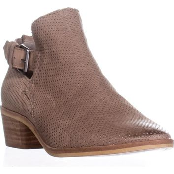 Dolce Vita Kara Perforated Ankle Boots, Taupe , 8 US
