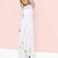 Pearly Petal maxi dress - Nude Pink | Dresses | Ted Baker UK