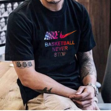"""""""NIKE's Basketball Never Stop""""Fashion Leisure Sports Short Sleeves"""