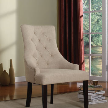 Drogo Cream Fabric Accent Chair 59194