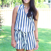 Stripe It to Me Tank {Navy+White}