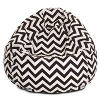 Majestic Home Goods Chocolate Chevron Bean Bag, Small, Chocolate