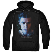 VAMPIRE DIARIES/STEFAN-ADULT PULL-OVER HOODIE-BLACK