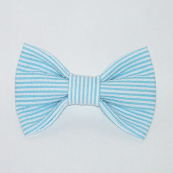 Seersucker Dog bow tie, Cat bow tie