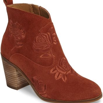 Lucky Brand Pexton Embroidered Bootie (Women) | Nordstrom