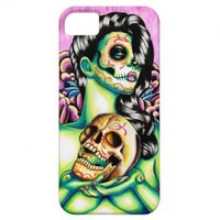 Memories Day of the Dead Sugar Skull Girl iPhone 5 Covers from Zazzle.com