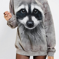 The Mountain Raccoon Pullover Sweatshirt