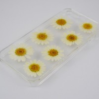 Uokwiwi™ White Daisy Real Dried Pressed Flowers Case for Iphone 5/5s